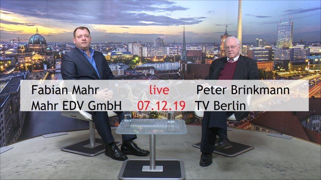 Fabian Mahr und Peter Brinkmann im Live Gespräch